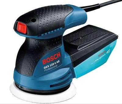 Bosch Professional GEX 125-1 AE - Lijadora excéntrica (250 W, Microfiltro, Ø plato lijador 125 mm, en caja)