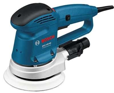 Bosch Professional GEX 150 AC - Lijadora excéntrica (340 W, Ø de plato lijador 150 mm, en caja)