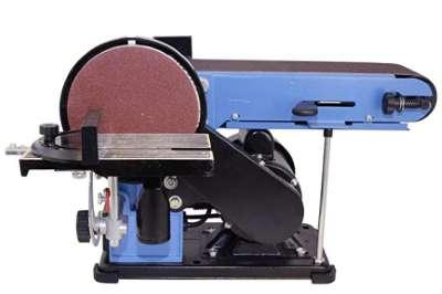 Güde 55135 GBTS 400-Lijadora de Banda y Plato, Azul