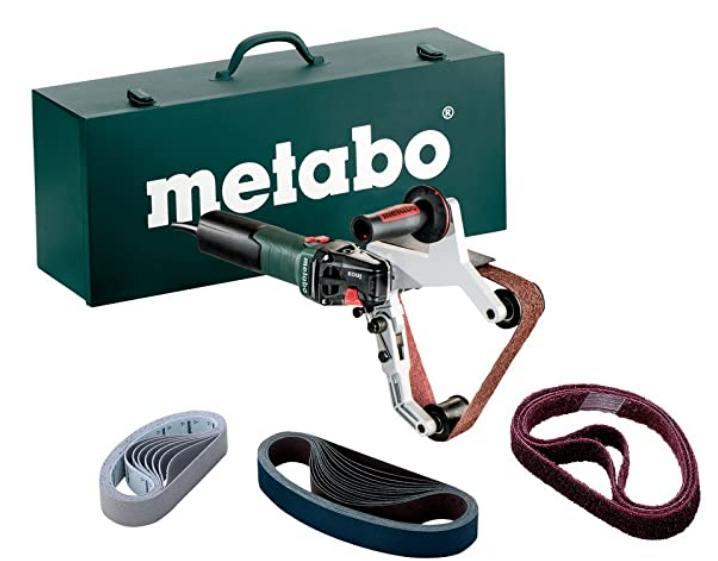 Metabo 602243500 602243500-Lijadora de Cinta para Tubos Especial INOX RBE 15-180 Set 1550W, 1550 W, 230 V, Negro, Size